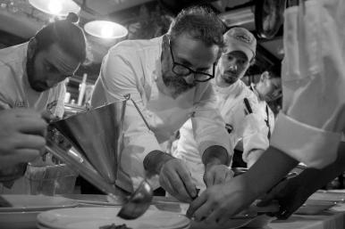 Massimo Bottura plating pasta